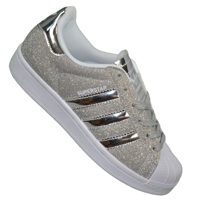 Adidas originals - Baskets - Superstar Paillettes - Argent ...
