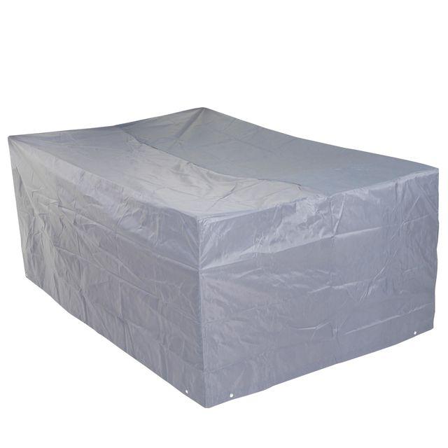 Mendler Housse de protection pour garniture de jardin, gaine de protection, gris ~ 75x180x120cm