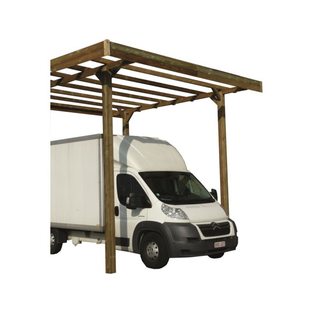 solid carport base 4 x 5 hauteur 4 m trait autoclave pas cher achat vente garages en. Black Bedroom Furniture Sets. Home Design Ideas