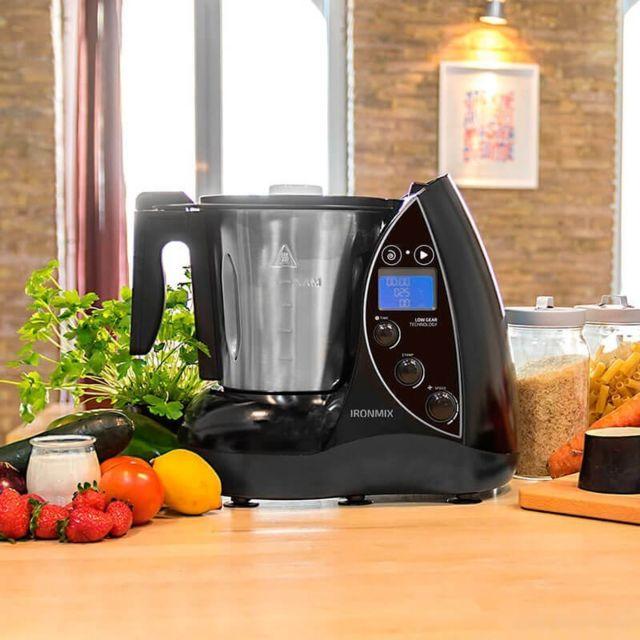 Cecotec robot de cuisine multifonctions de 3,3L avec écran Lcd gris noir