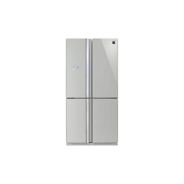 Sharp SJ-FS810VSL - Refrigerateur Multi-portes - 600L 393L+207L - Froid ventile No Frost - A+ - L89,2cm x H183cm - Silver
