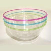 Sisval David - Saladiers X 3 plastique Cristal Tutti Frutti 3L