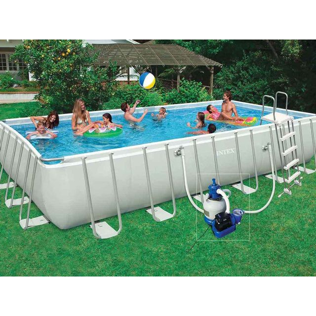 De Haute Qualite INTEX   Piscine Tubulaire Rectangulaire   7,32 X 3,66 X 1,