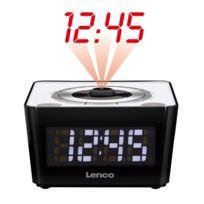 Lenco - Radio-réveil avec projection de l'heure Cr-16