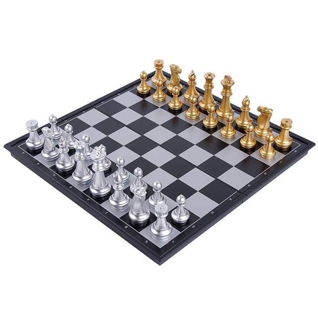 E-thinker échecs magnétique - Taille moyenne - Or et argent