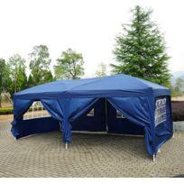 HOMCOM - Tonnelle tente de reception pliante pavillon chapiteau barnum 3 x 6 m bleu cote demontables 41
