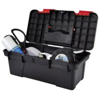 Promobo - Mallette A Outils Vide Coffre De Rangement A Transporter Avec Poignee Noir