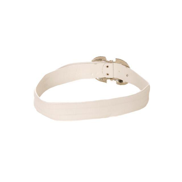 7937ef5b1b6e Grossiste-en-ligne - Ceinture blanche, boucle à strass. B6-0066 - pas cher  Achat   Vente Ceintures - RueDuCommerce