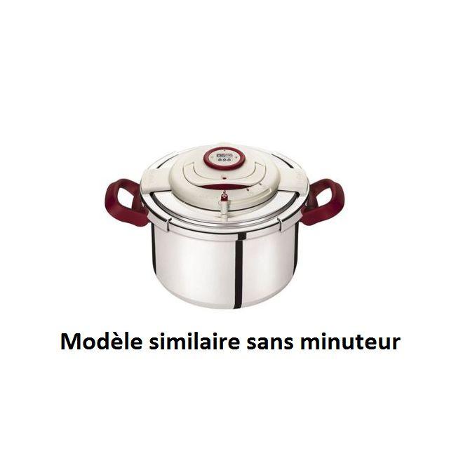 SEB Clipso Minut' Easy rouge 4,5 L + livre de recettes 100 r P4620617