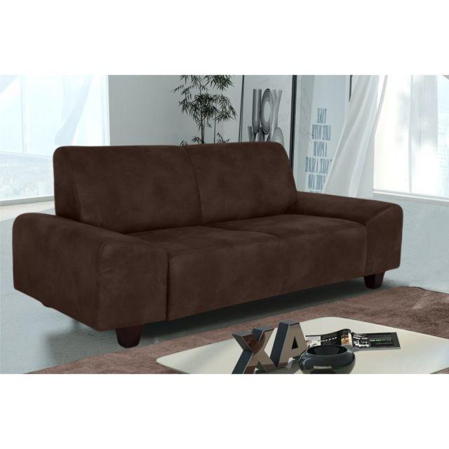 Rocambolesk Canapé Quick 3 Tobago 14 brun+pieds venge sofa divan