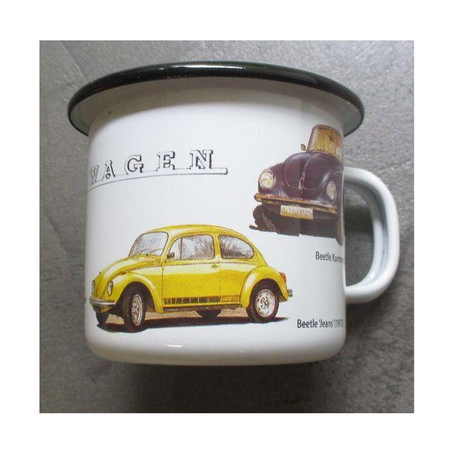 Universel Mug Vw cox coccinelle email tasse à café emaillée volkswagen