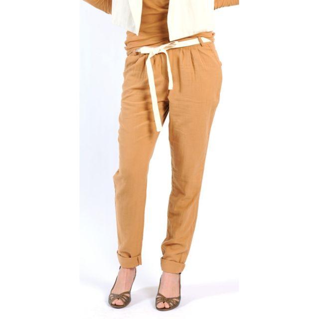 American Vintage - Pantalon Lea139 Cumin Jaune