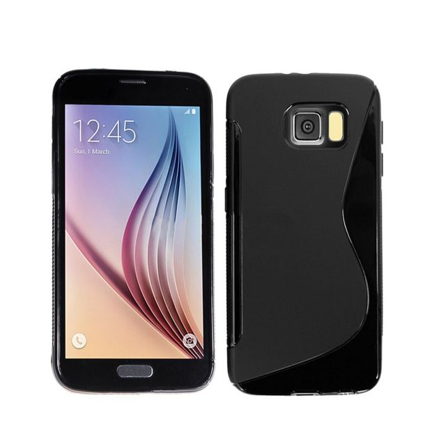 Lapinette - Coque Gel Vague S Pour Samsung Galaxy S7 Edge - Noir