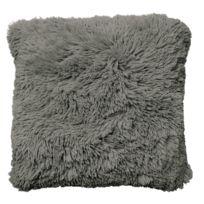 Tiseco Home Studio - Coussin Long Pile à Poils Longs 45 x 45 cm Taupe