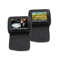 Auto-hightech - Appui-tete video 9 pouces pour voiture avec ecran et lecteur Dvd haut-parleur lot de 2