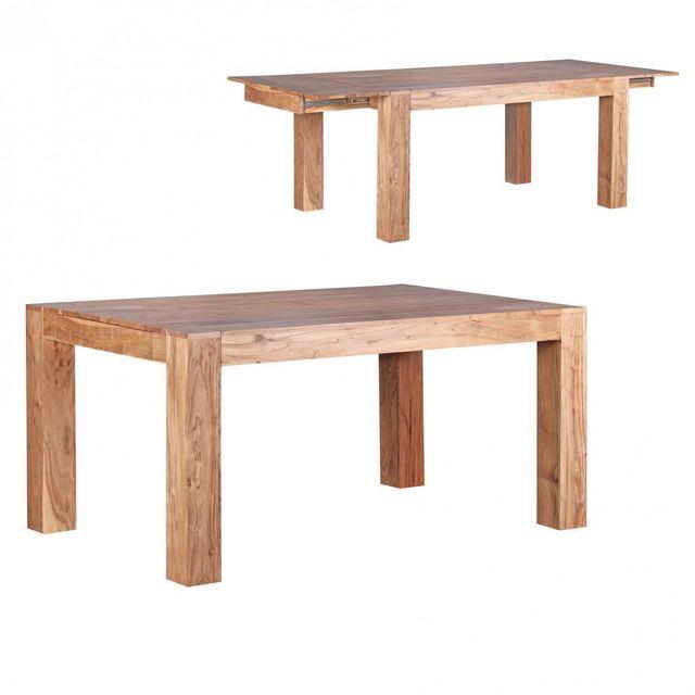 Comforium Table A Manger Extensible 160 240 Cm En Bois Massif