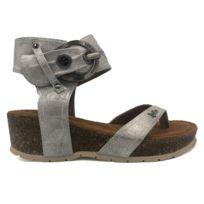 Les P'tites Bombes - Sandale Compensée 5-Kelly Argent