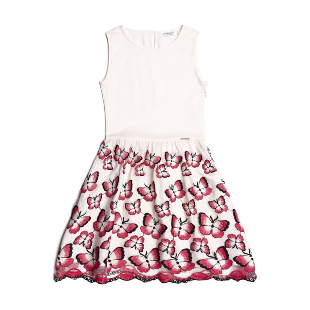 5a34b3bf92d45 Guess - Robe Papillons Marciano - Taille - 10 ans - pas cher Achat   Vente  Robe enfant - RueDuCommerce