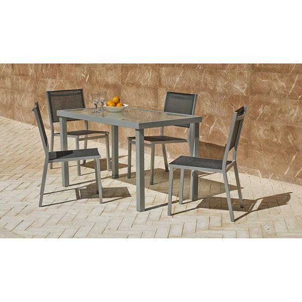 Hevea Jardin Ensemble de table et 4 chaises de jardin Perseo/BALTIMOR 130/4