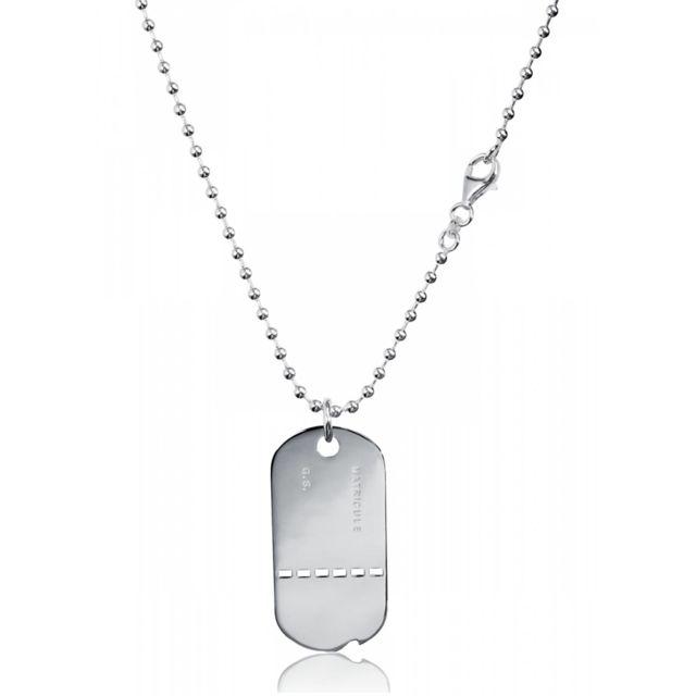 0a5aeebd6d0 Bijoux En Vogue - Plaque Militaire Argent Militaire - pas cher Achat ...