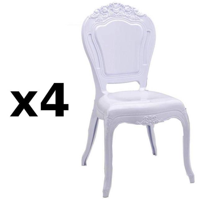 Inside 75 Lot De 4 Chaises Design Napoleon En Polycarbonate Opaque