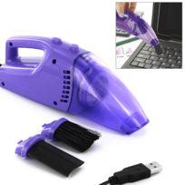 Touslescadeaux - Aspirateur Usb - pour nettoyer clavier de pc, ordinateur, écran - Violet