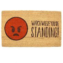 Sans Marque - Paillasson fibre de coco Emoji Colere Watch Where You're Standing