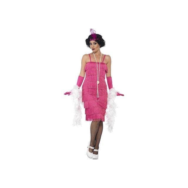 b1970c0e608b Marque Generique - Robe années 20 à franges rose, flappers - pas ...