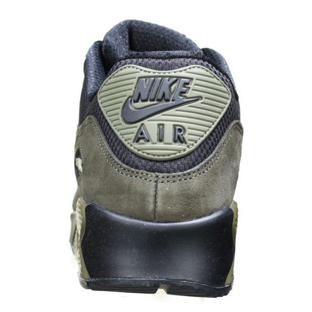 Nike Air Max 90 Leather 302519 014 Noir Kaki pas cher