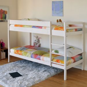 no name lit superpos brice 90x190 2 sommiers blanc blanchi 90cm x 190cm pas cher. Black Bedroom Furniture Sets. Home Design Ideas