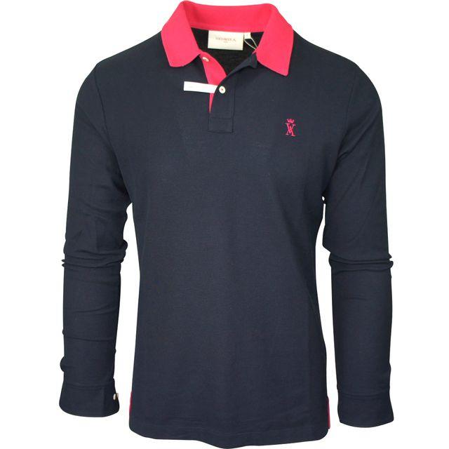 5dfdfa4adec9 Vicomte Arthur - polo bleu marine - pas cher Achat   Vente Tee shirt homme  - RueDuCommerce