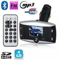 Yonis - Transmetteur Fm voiture Bluetooth Mp3 Usb Carte Sd Jack 3.5mm 4 Go