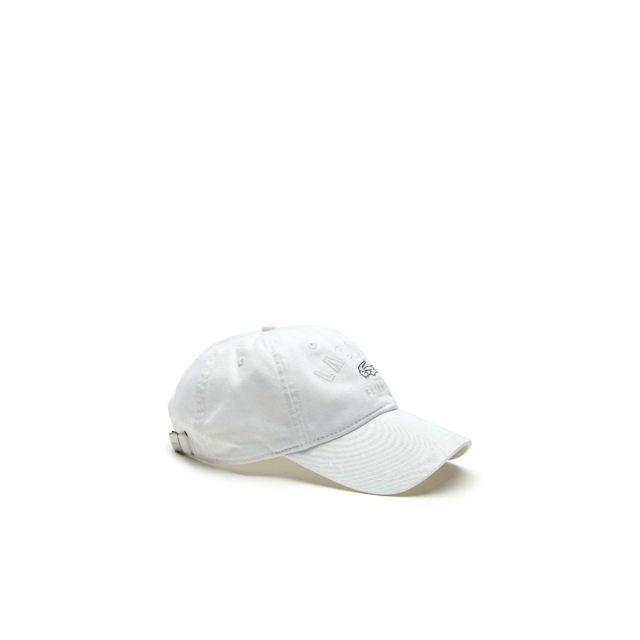 12687f48ba Lacoste - homme - Casquette Blanc Rk9266 - Taille vêtements - Unique Taille  unique - pas cher Achat / Vente Casquettes, bonnets, chapeaux -  RueDuCommerce