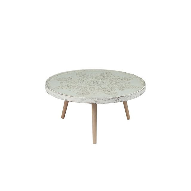 Table gigogne ronde 80diam beige