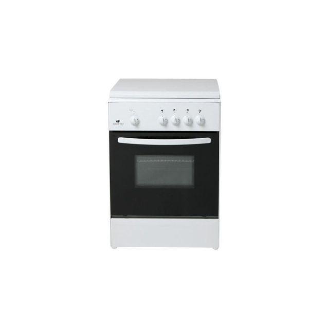 Continental edison cecg6060w2 cuisiniere Table gaz-4 foyers-Four gaz-Nettoyage Manuel Email lisse-62l-a-l60 x h86cm-blanc