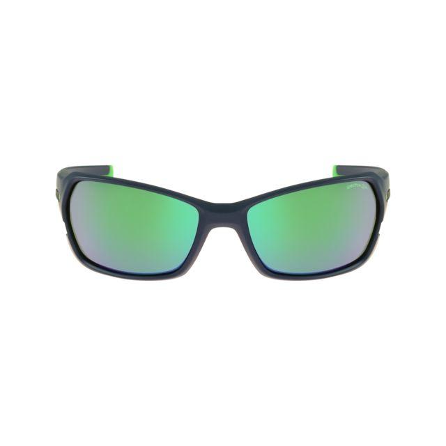 julbo dirt 2 0 j474 1112 bleu mat vert lunettes de soleil pas cher achat vente. Black Bedroom Furniture Sets. Home Design Ideas