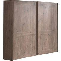 COMFORIUM - Armoire 200x216 cm à 2 portes coulissantes coloris pin écossais