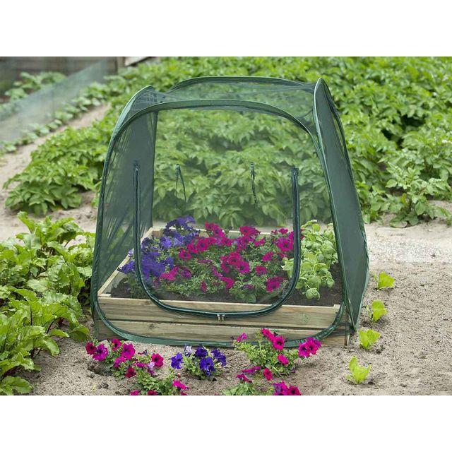 NATURE Serre plastique pour carré potager - Filet anti-insectes