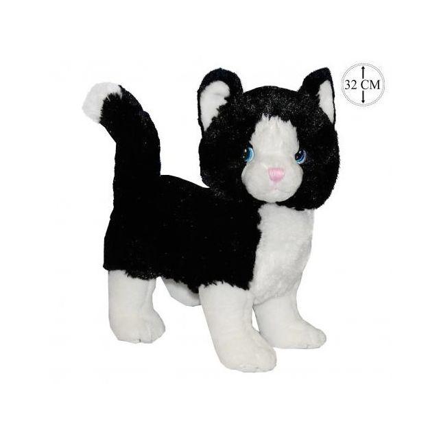 sans marque peluche chat naturel 32cm pas cher achat vente ours en peluche rueducommerce. Black Bedroom Furniture Sets. Home Design Ideas