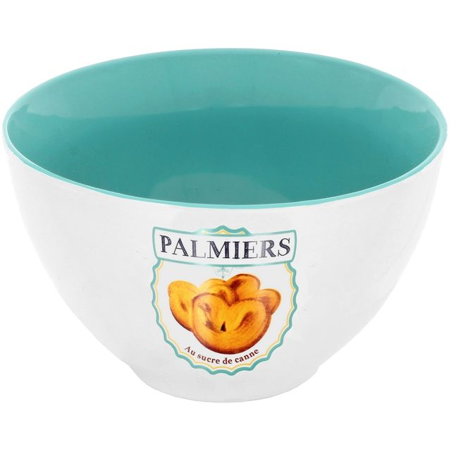 Promobo Maxi Bol A Soupe Design Gourmand Imprimé Biscuits Palmier 500ml