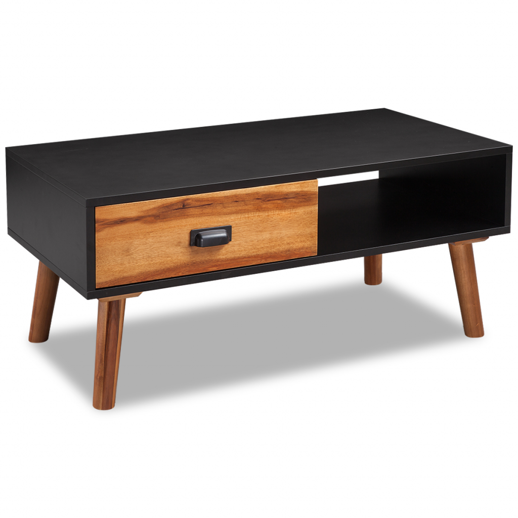Table basse en bois d'acacia massif 90 x 50 40 cm