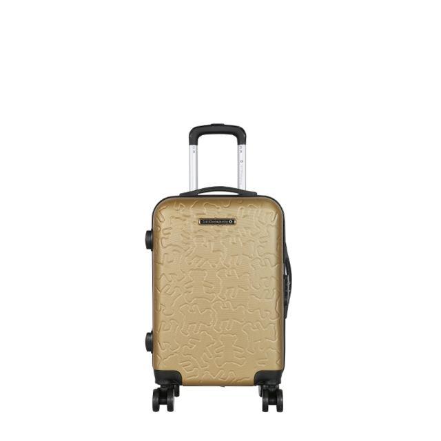 lulu castagnette valise cabine rigide oxf3 55 cm gold. Black Bedroom Furniture Sets. Home Design Ideas