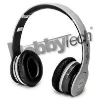 Hobbytech - S450 - Casque stéréo blanc Bluetooth pliable + micro intégré