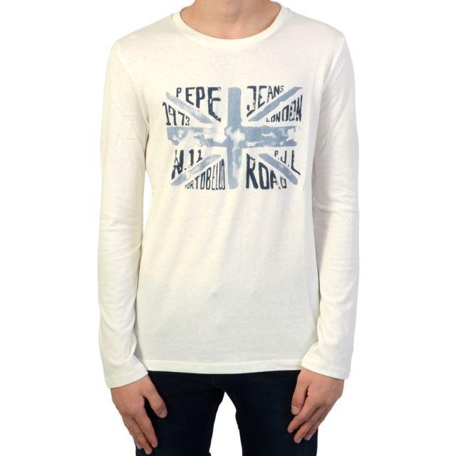 63263306a474c Pepe Jeans - Tee Shirt manches longues Enfant Jaden Jr - pas cher Achat    Vente Tee shirt enfant - RueDuCommerce