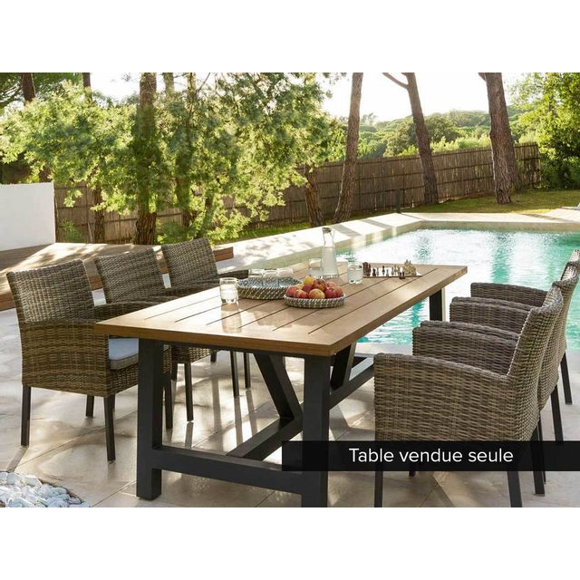 hesperide table de jardin rectangulaire aura 6 places. Black Bedroom Furniture Sets. Home Design Ideas