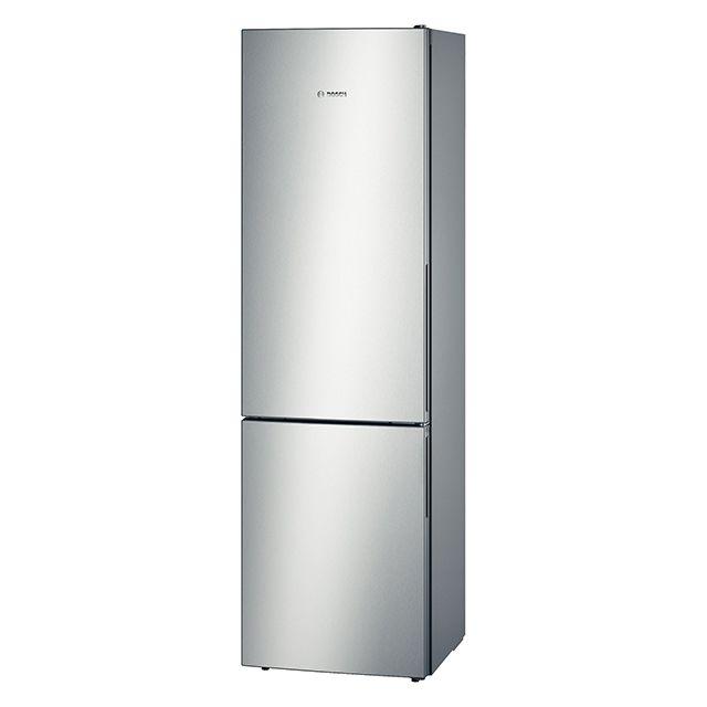 Bosch réfrigérateur combiné 60cm 344l a++ brassé finition inox - kgv39vl31s