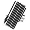 Rocambolesk - Superbe Bêche et tarière manuelle 100 mm Avec Rallonge mèche tarière 9 m Neuf