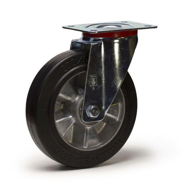 roues et roulettes com roulette caoutchouc noir super lastique pas cher achat vente. Black Bedroom Furniture Sets. Home Design Ideas