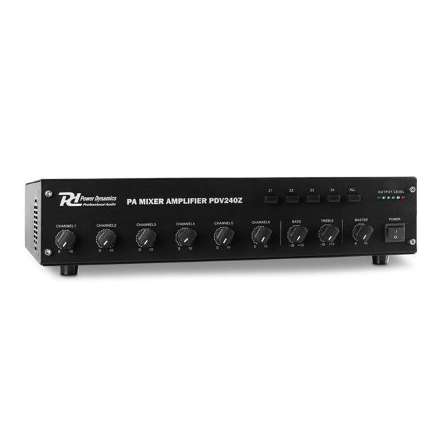 POWER DYNAMICS PDV240Z Amplificateur sono 6 canaux 4 zones