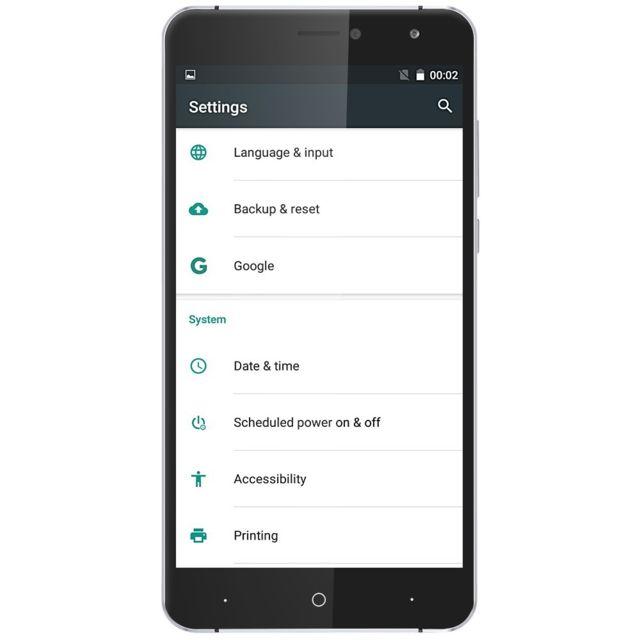 Auto-hightech Smartphone 6 pouces 3G avec Android 6.0, quad core et bluetooth - Blanc